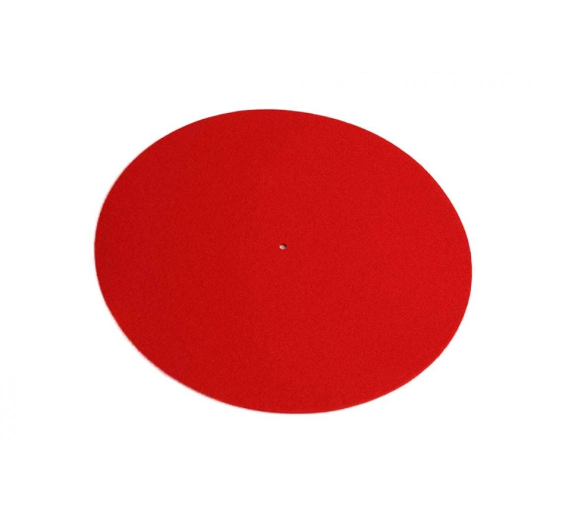 Rega uld-filt plademåtte rød