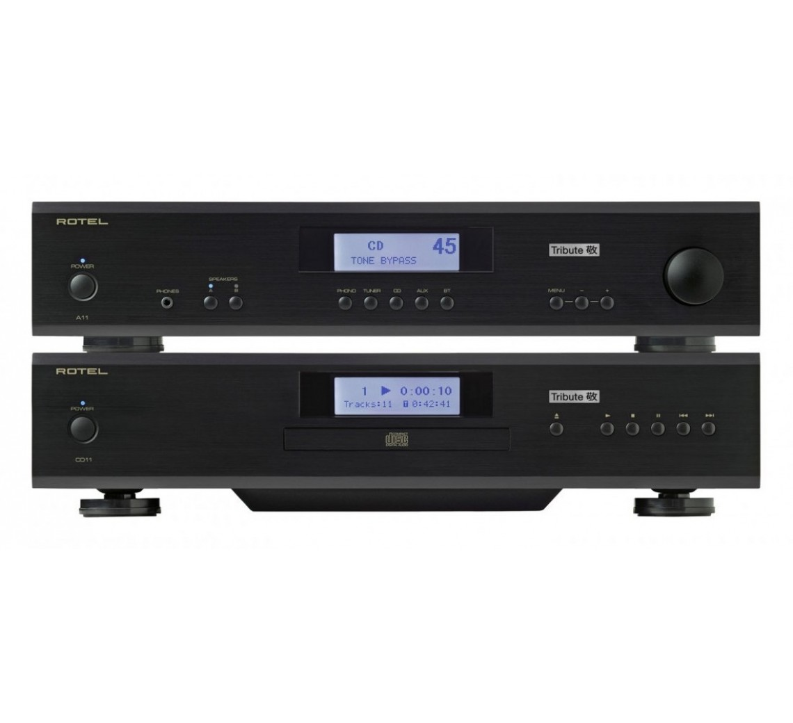 Rotel A11 & CD11 Tribute m/ Nordost signalkabel