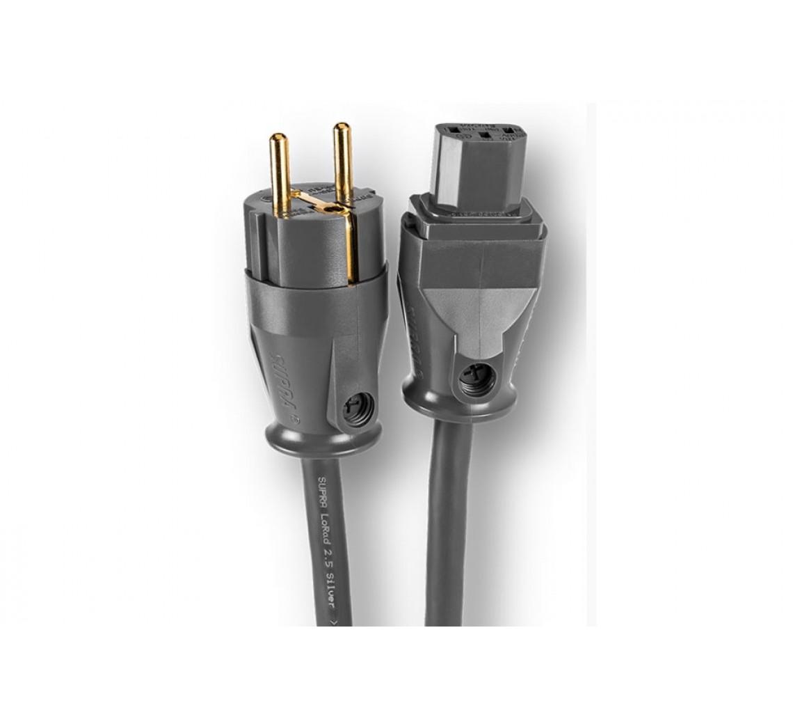 SUPRA LoRad strømkabel med Schuko stik (3 x 2.5 mm²)-01